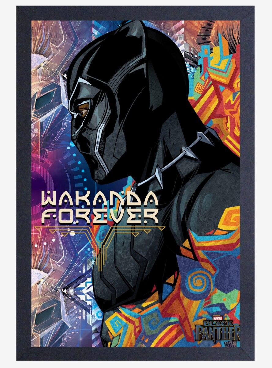 Marvel Black Panther Side Profile Poster