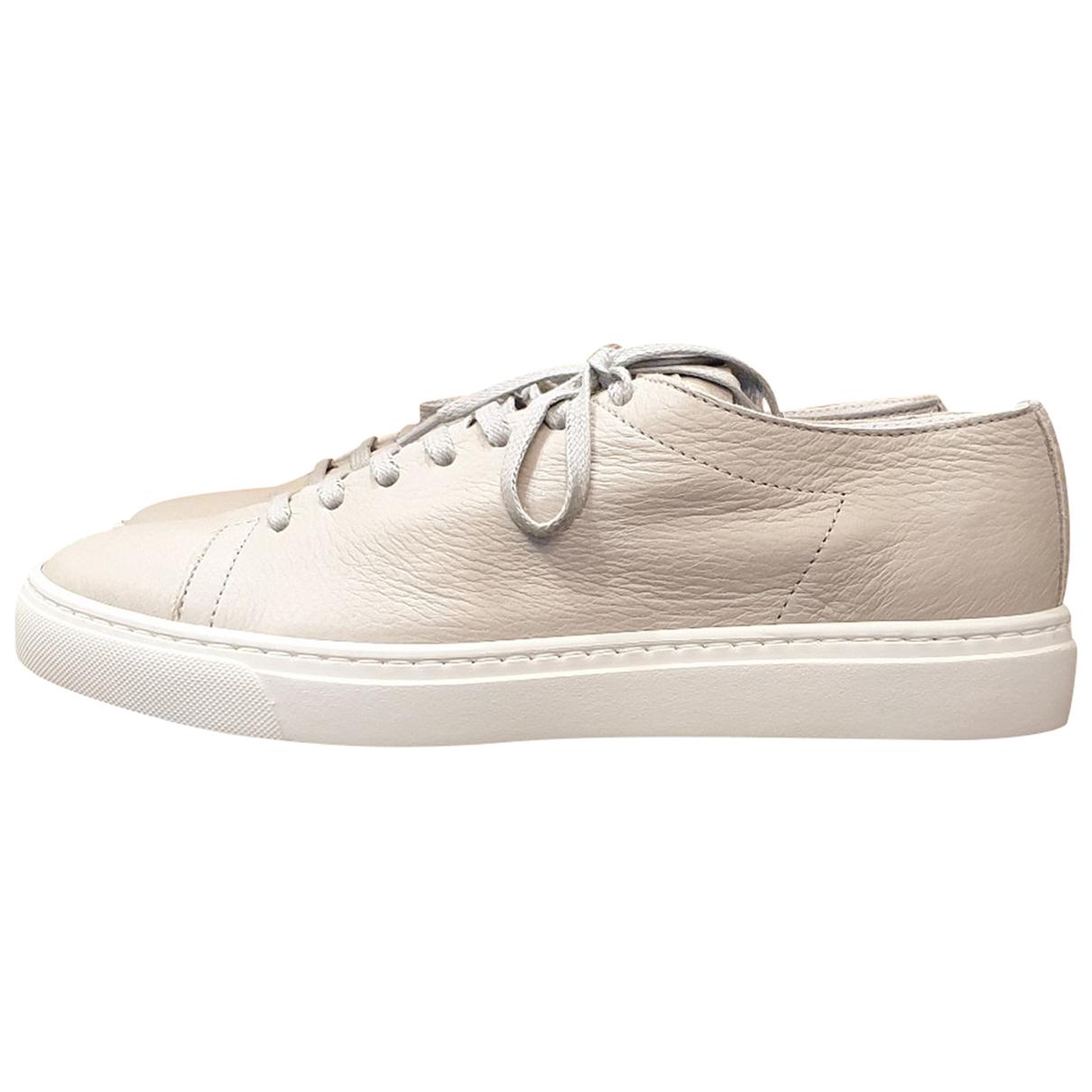 Officine Creative \N Sneakers in  Grau Leder