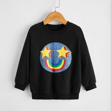 Sweatshirt mit Karikatur Muster