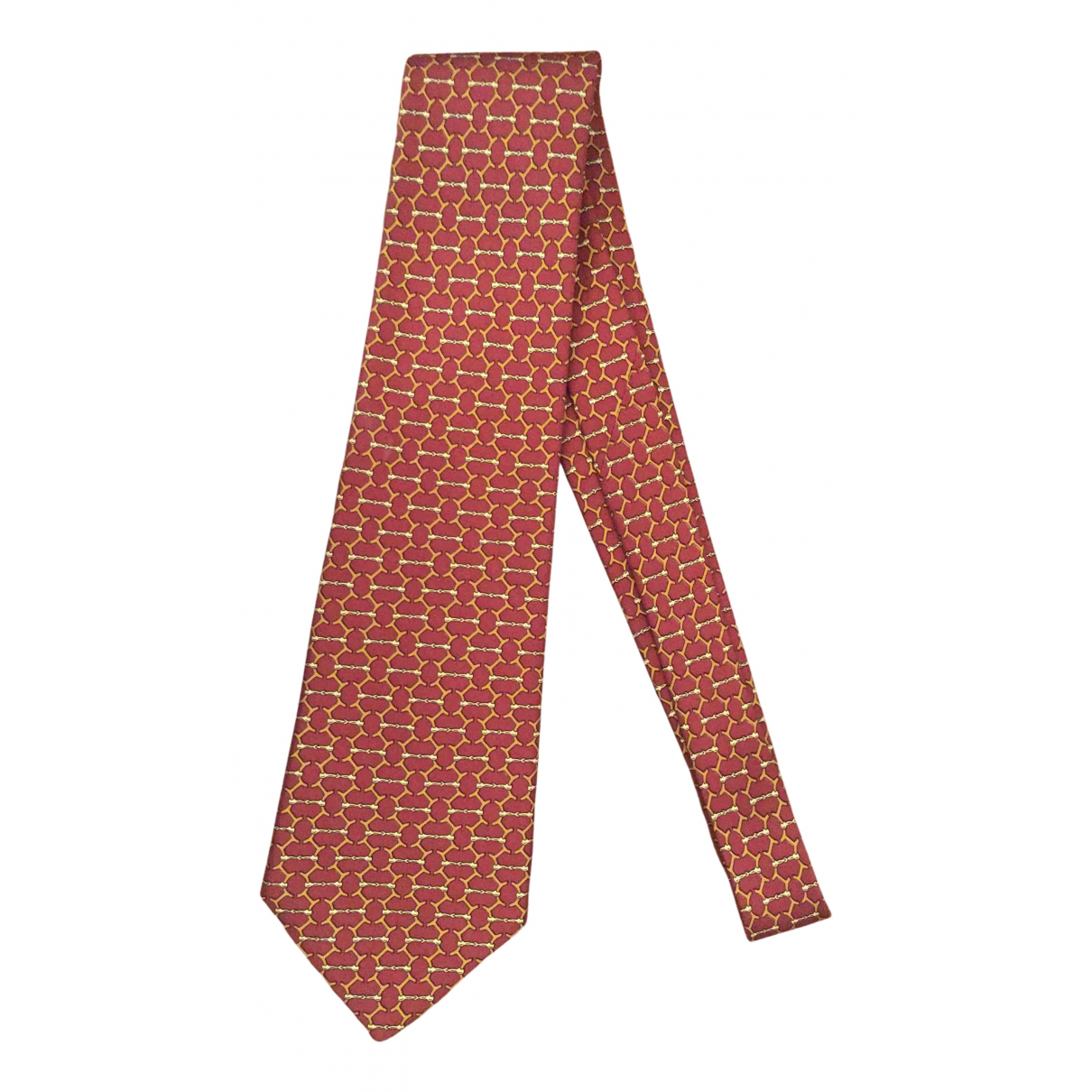 Hermès N Burgundy Silk Ties for Men N
