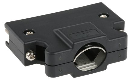 3M , 103 Polymer D-sub Connector Backshell, 50 Way, Strain Relief, Black