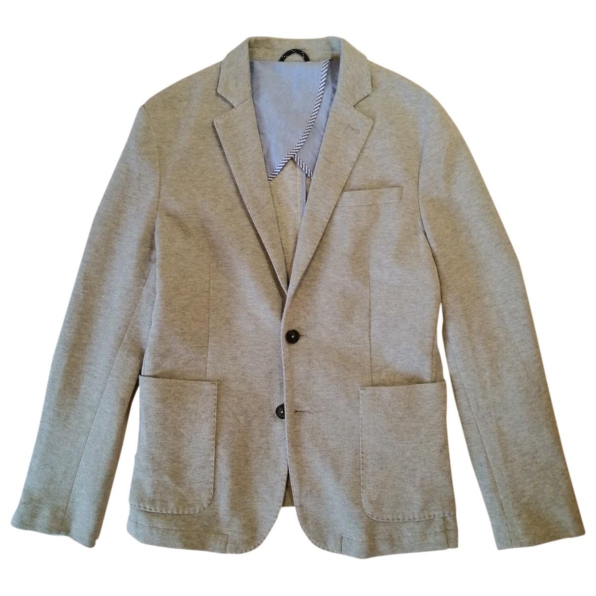 Selected - Vestes.Blousons   pour homme en coton - gris