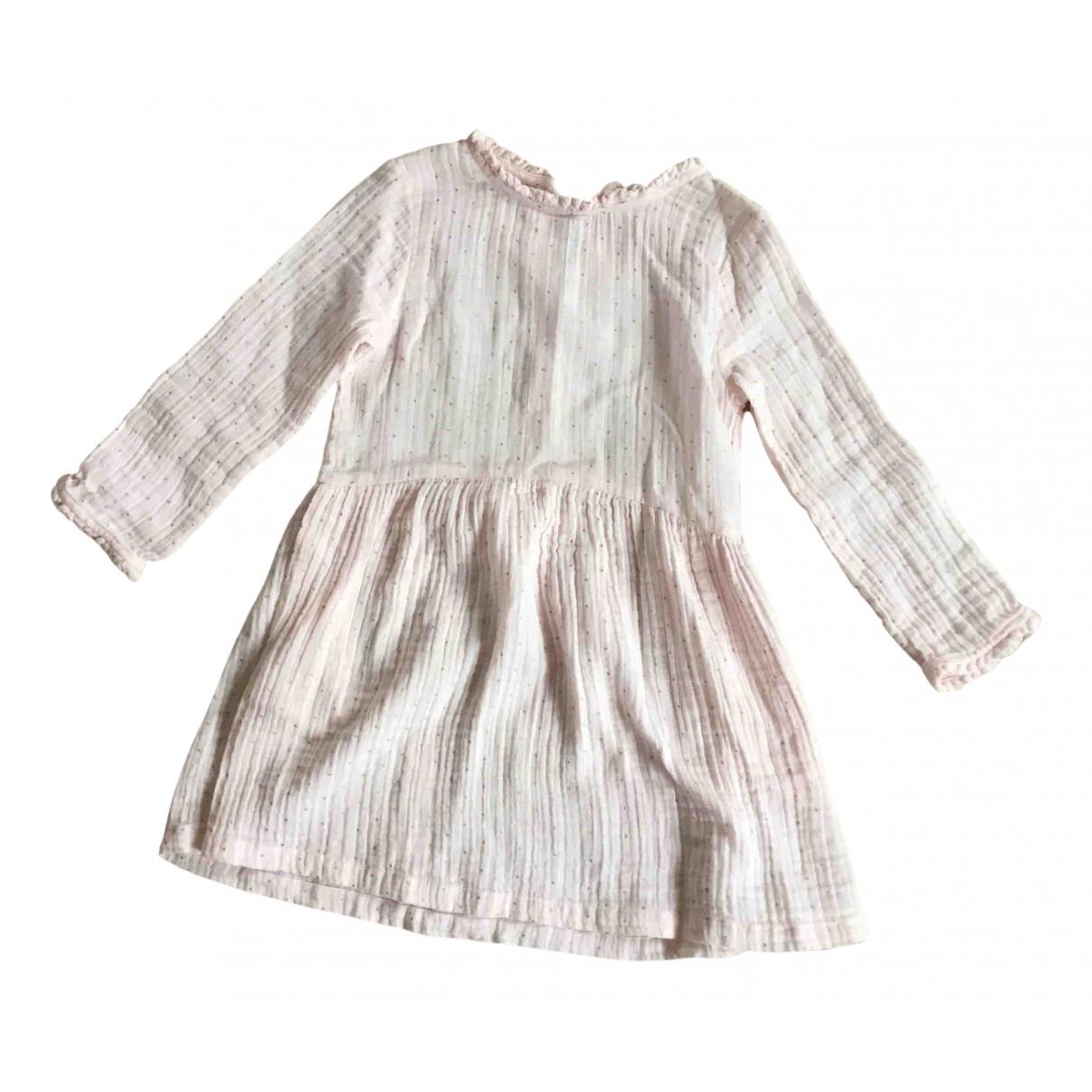 Bonton - Robe    pour enfant en coton - rose
