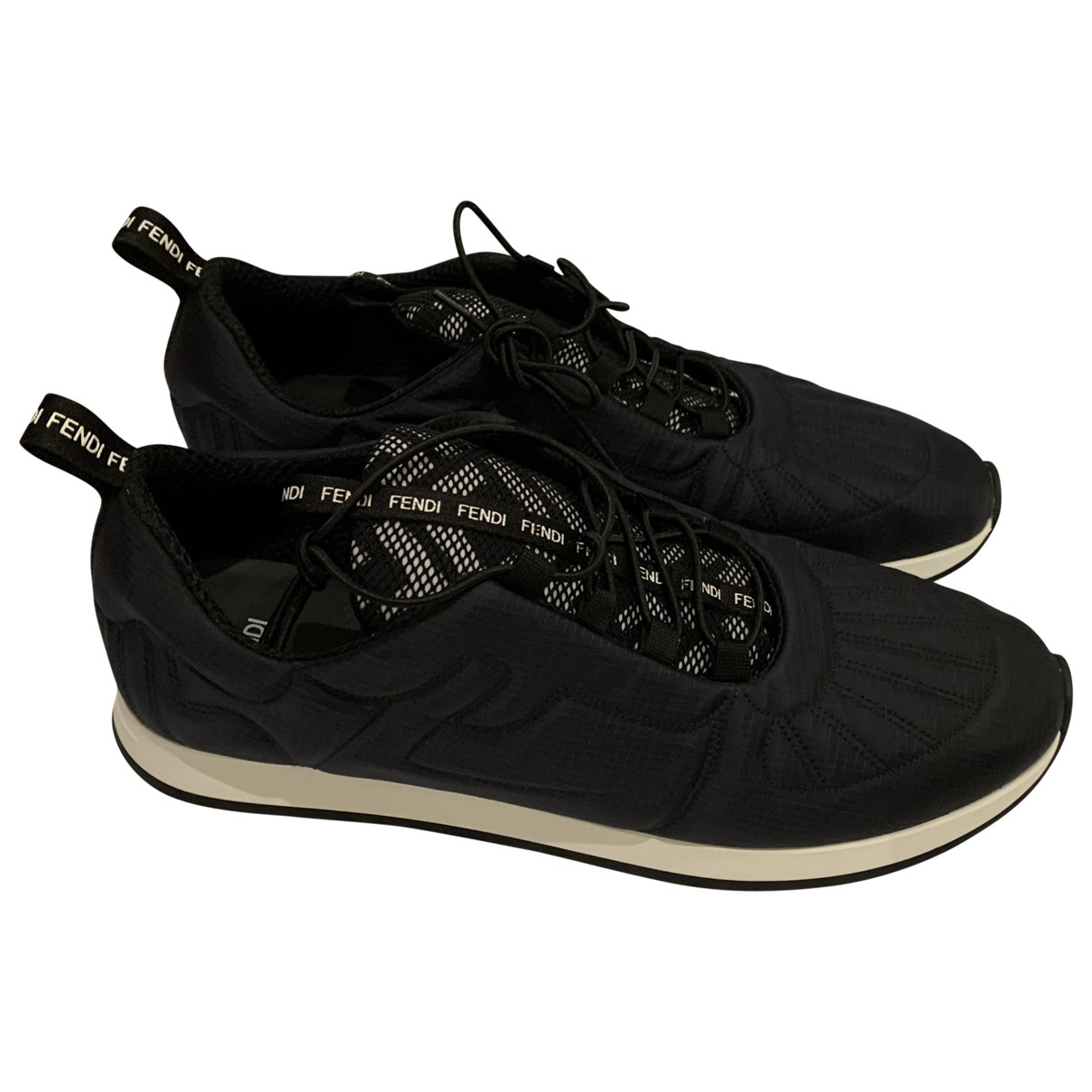 Fendi - Baskets   pour femme en toile - noir