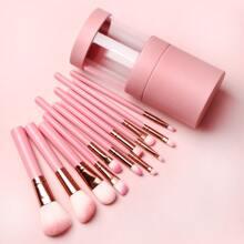 12 Stuecke Makeup Pinsel & 1 Stueck Aufbewahrungsbox