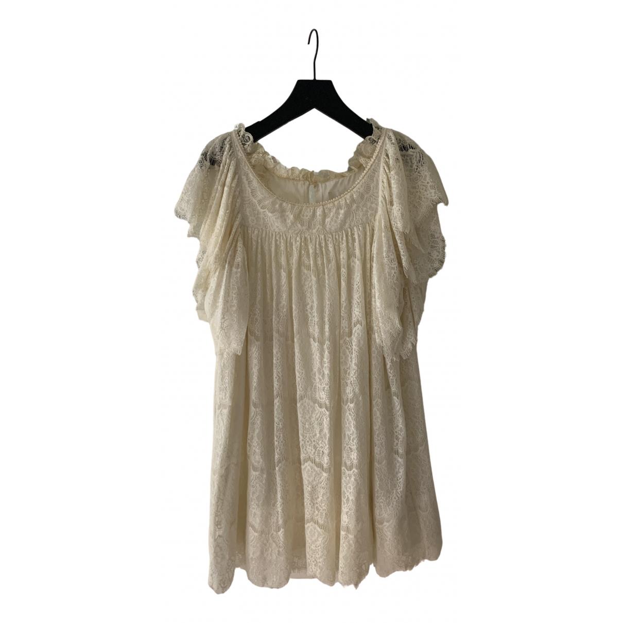 Jill Stuart \N Kleid in  Ecru Spitze