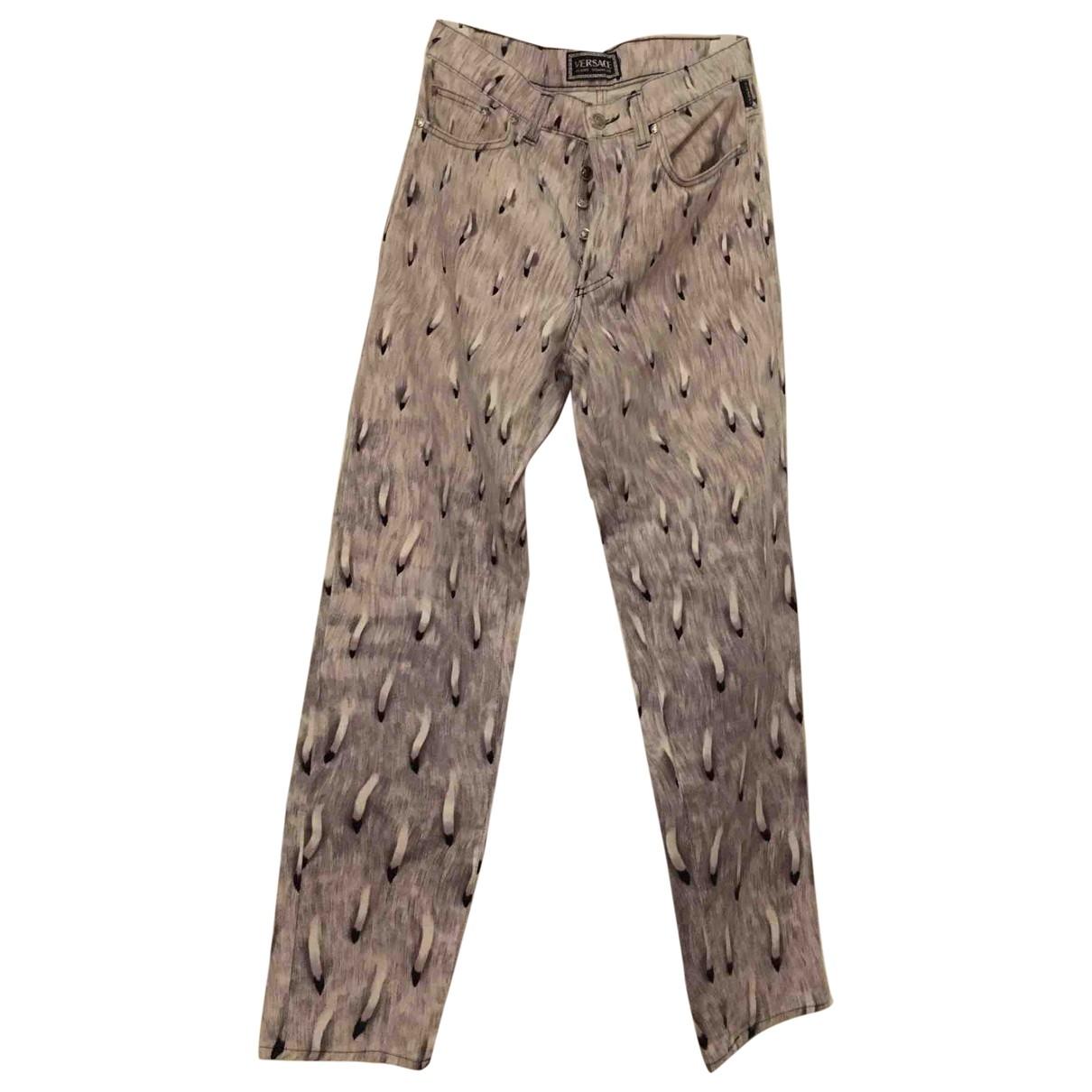 Versace Jeans \N Grey Cotton Jeans for Men 46 FR