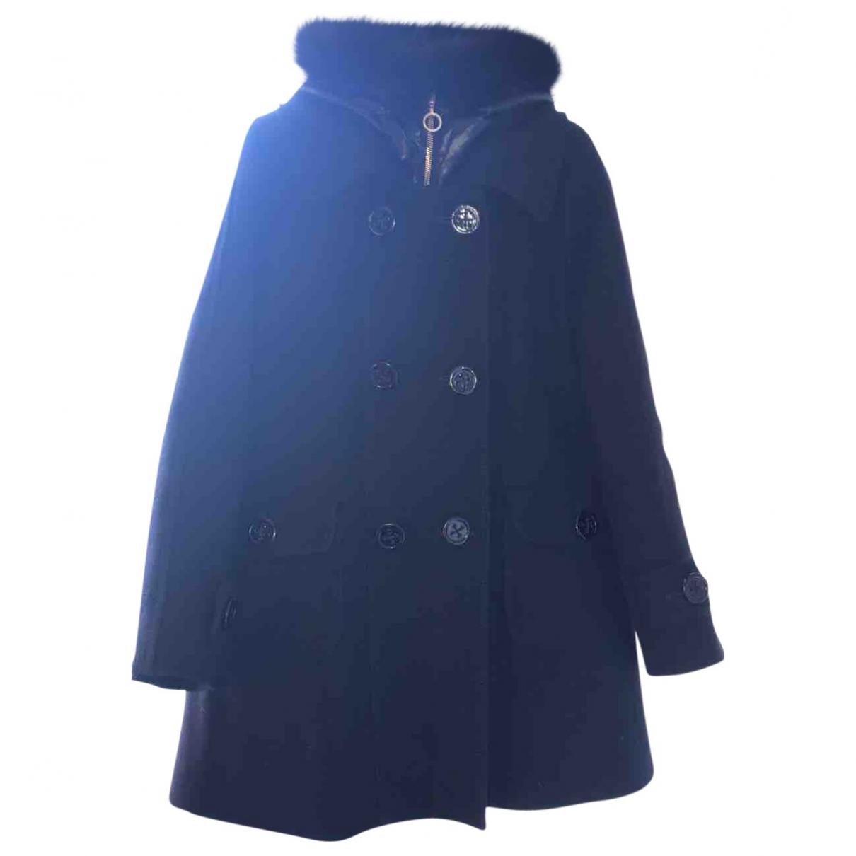 Moncler \N Black Wool coat for Women 0 0-5