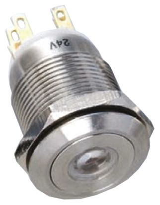 EOZ Double Pole Double Throw (DPDT) Momentary Blue LED Push Button Switch, IP65, Panel Mount
