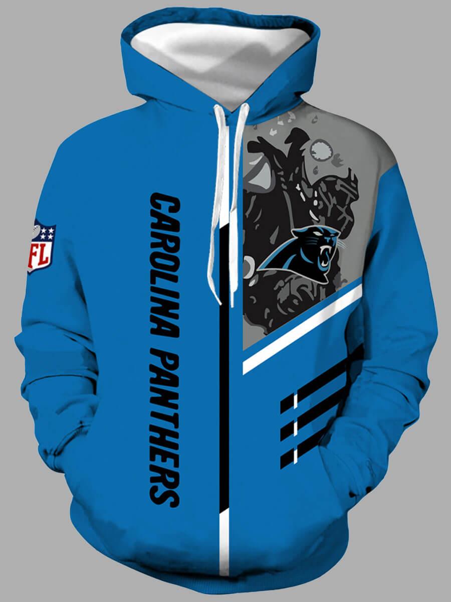 LW Lovely Leisure Hooded Collar Print Blue Men Hoodie