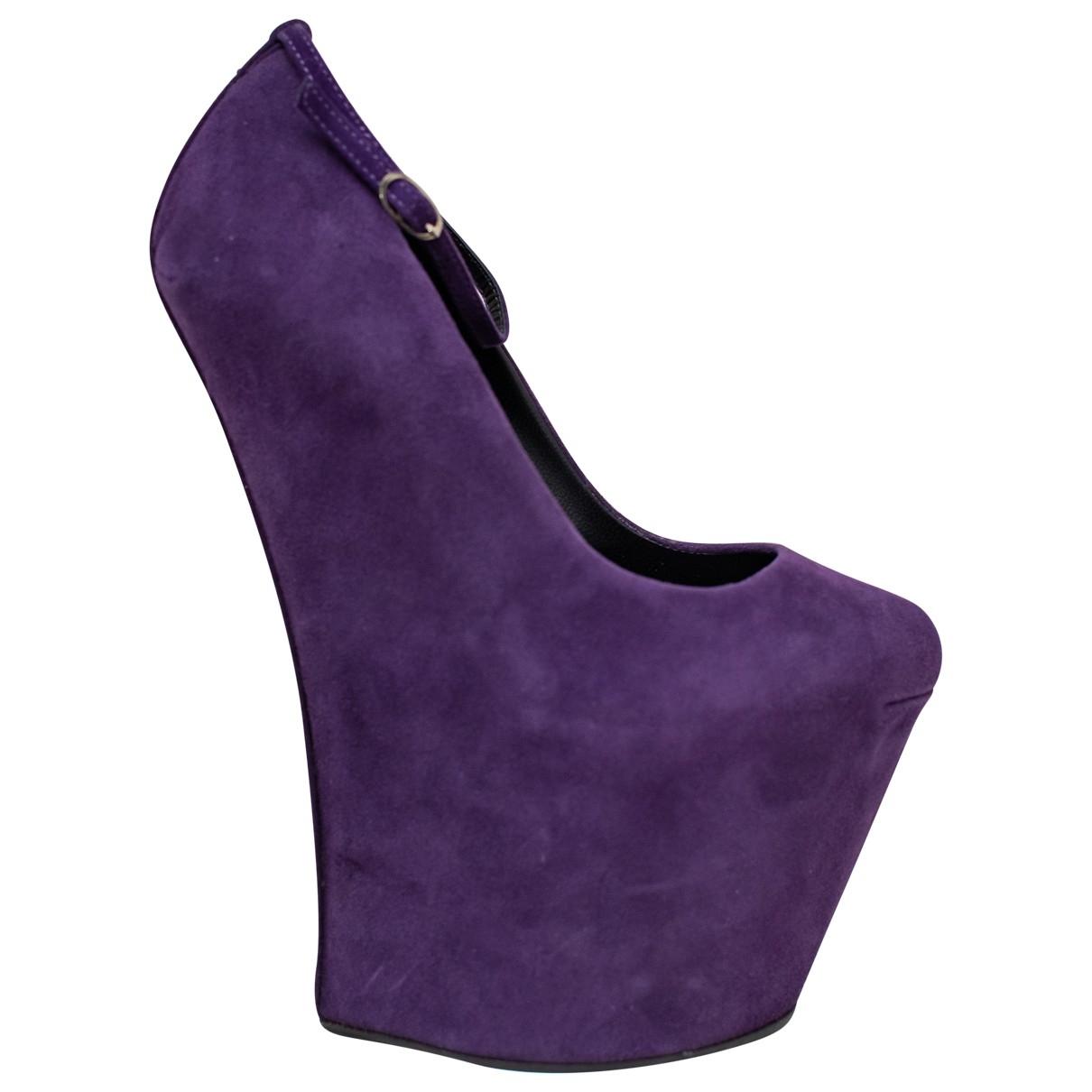 Giuseppe Zanotti - Escarpins   pour femme en cuir - violet