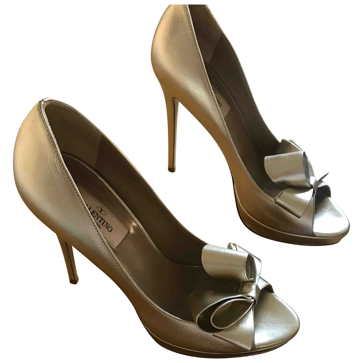 Valentino Garavani \N Gold Leather Heels for Women 40 EU