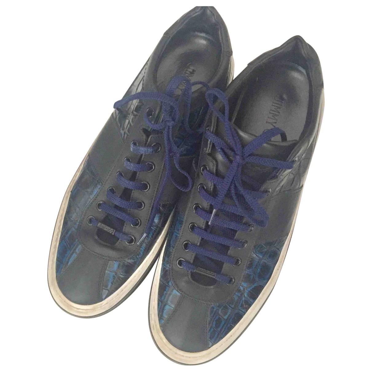 Jimmy Choo \N Blue Leather Trainers for Men 43 EU