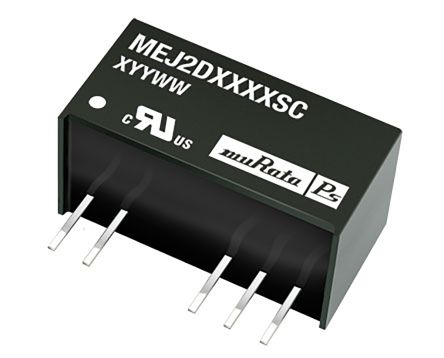 Murata Power Solutions MEJ2 2W Isolated DC-DC Converter Through Hole, Voltage in 4.5 → 5.5 V dc, Voltage out