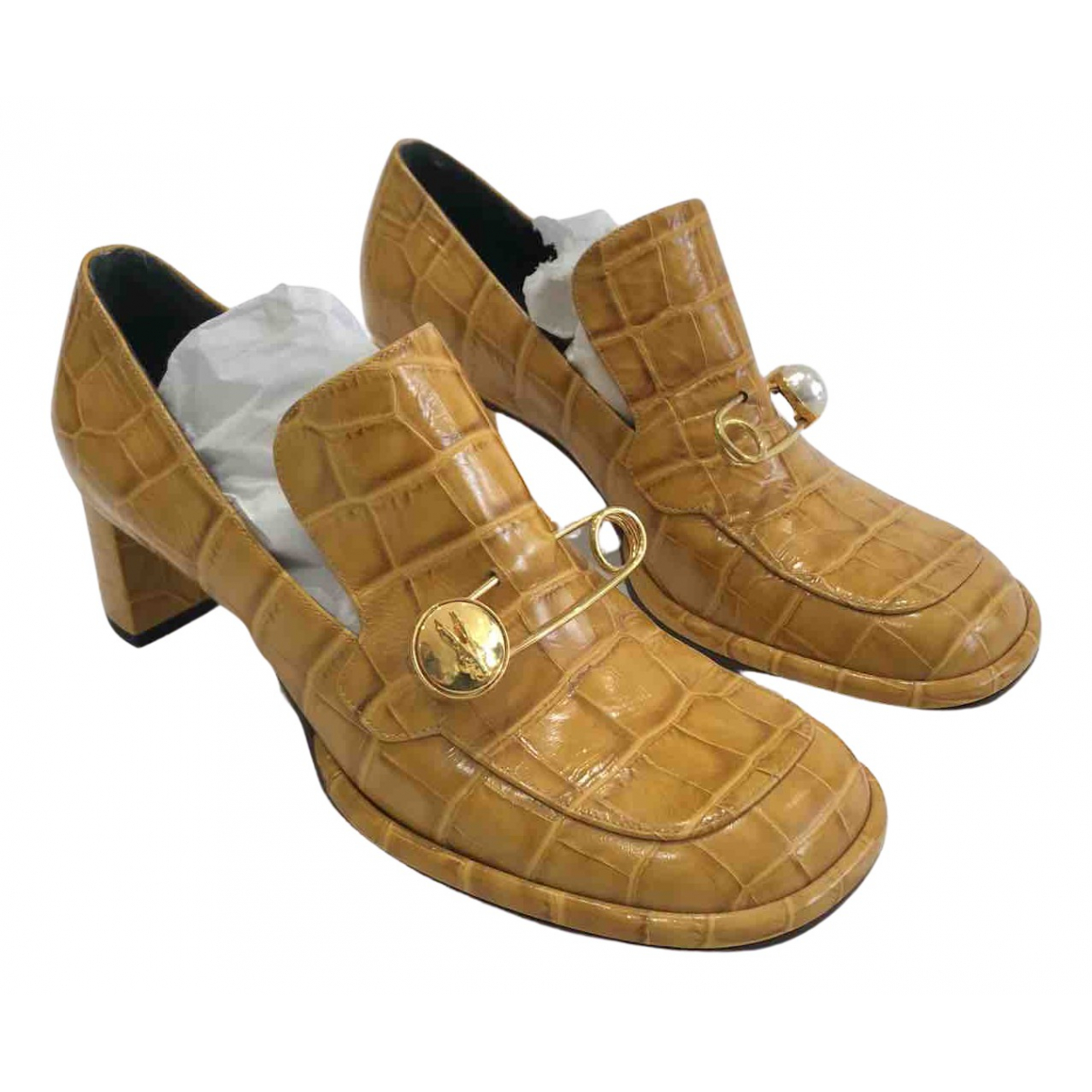 Mulberry N Yellow Leather Heels for Women 39 EU