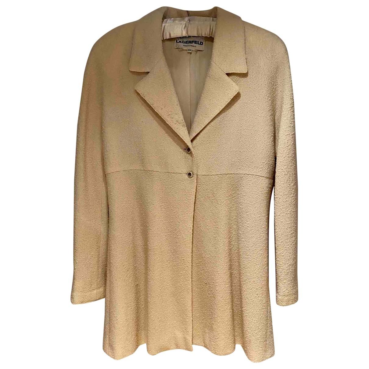 Karl Lagerfeld \N Ecru Wool jacket for Women 40 FR