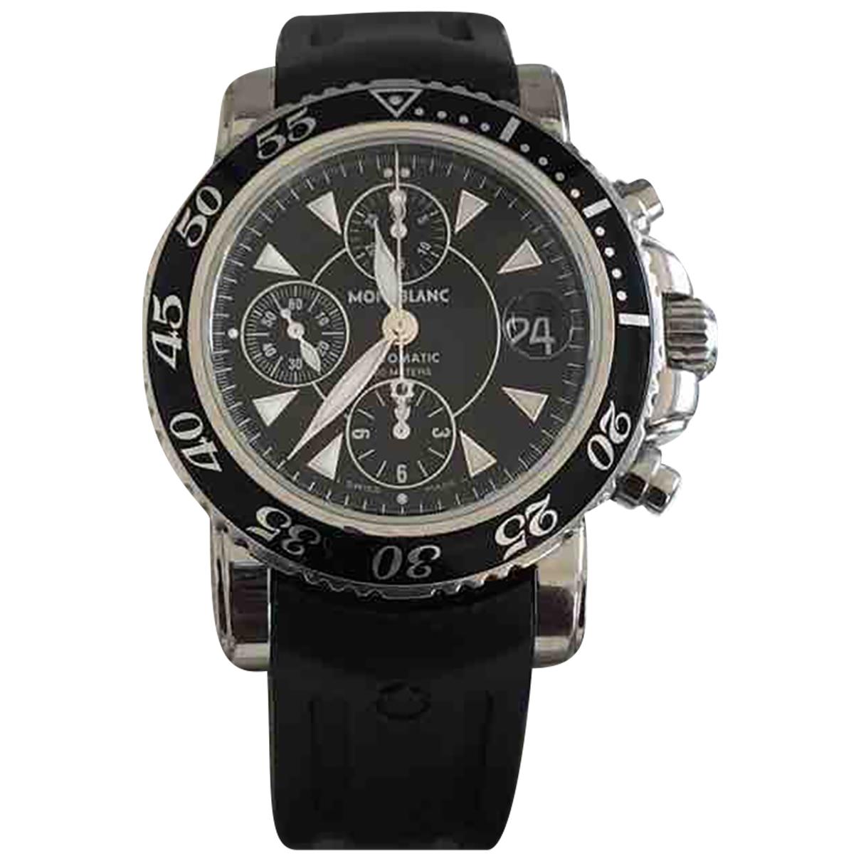 Montblanc Meisterstuck Uhr in  Schwarz Stahl