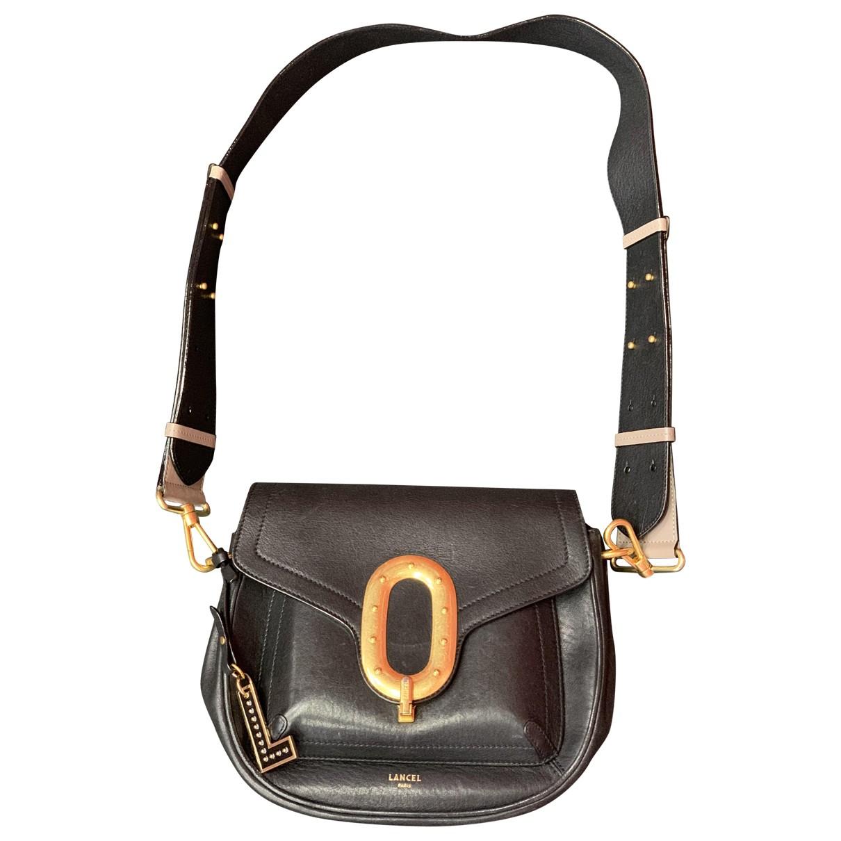 Lancel Romane Black Leather handbag for Women \N