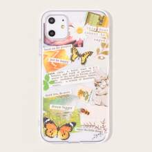 Butterfly & Slogan Graphic iPhone Case