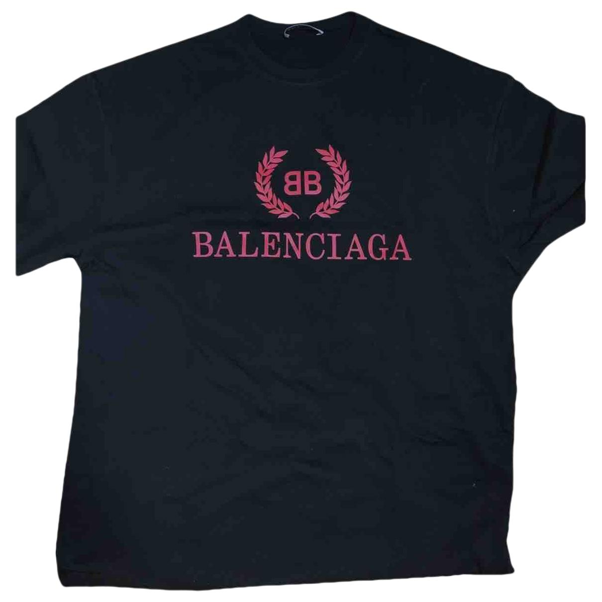 Balenciaga \N Top in  Schwarz Baumwolle