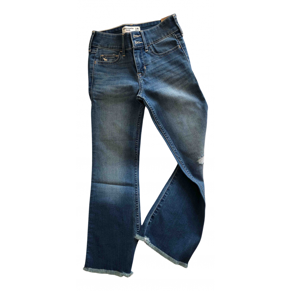 Abercrombie & Fitch N Blue Cotton Trousers for Kids 12 years - XS FR