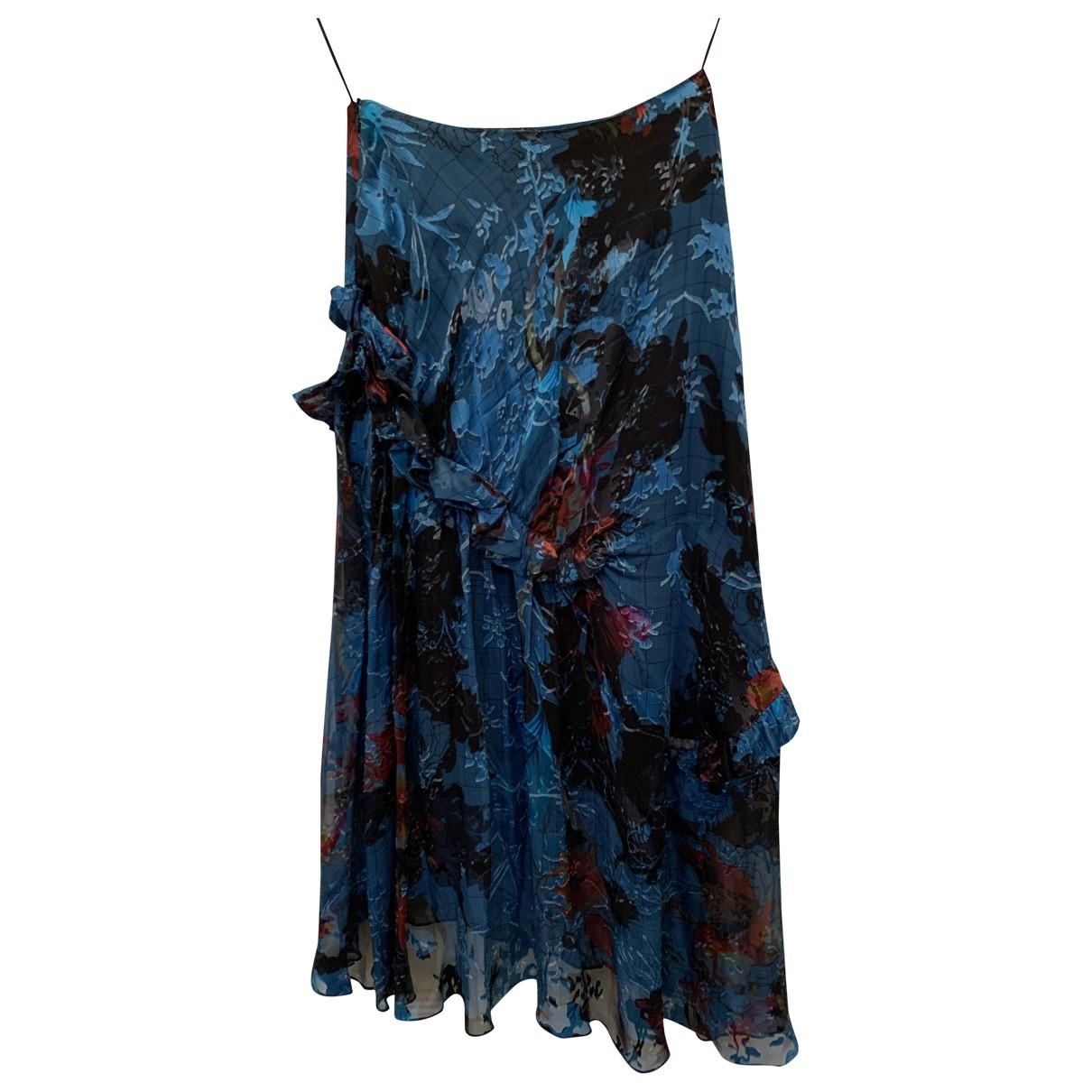Preen By Thornton Bregazzi N Blue Silk skirt for Women S International