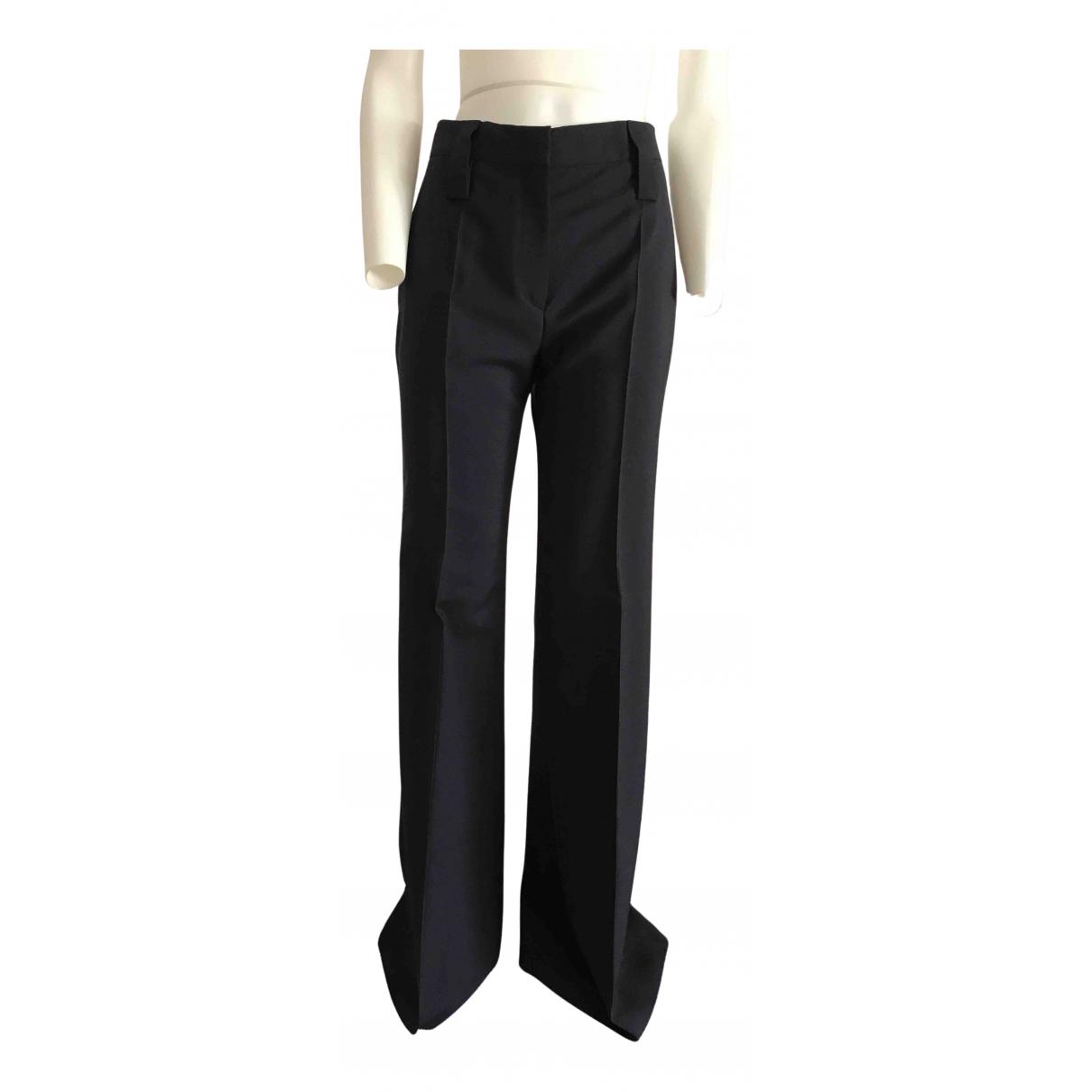Prada N Blue Wool Trousers for Women 38 IT