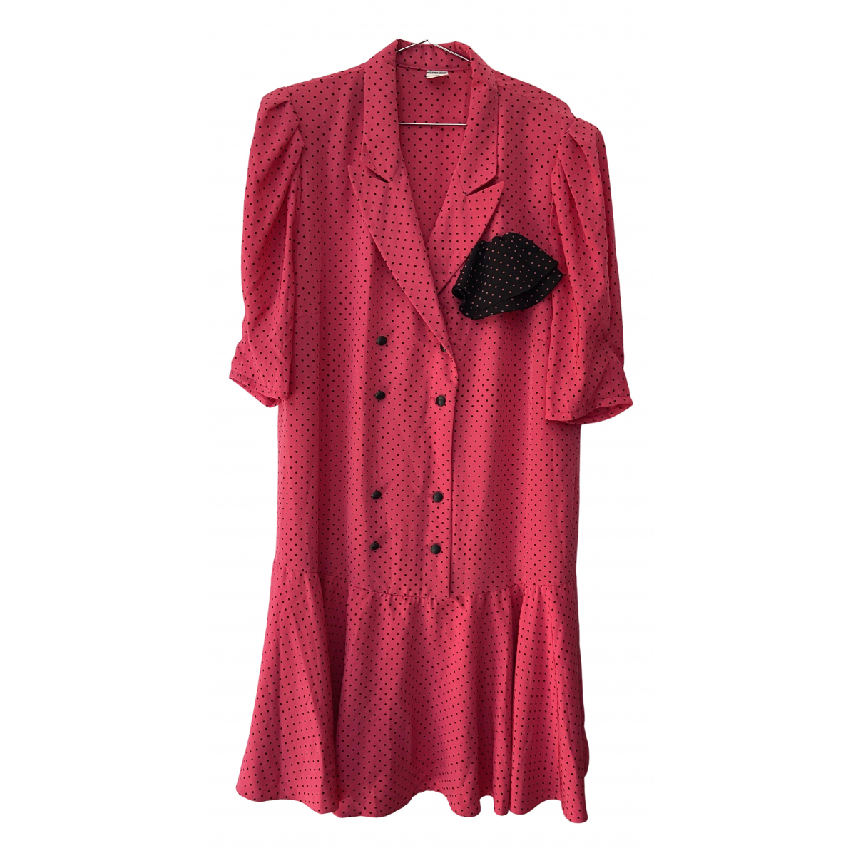 - Robe   pour femme en coton - rose