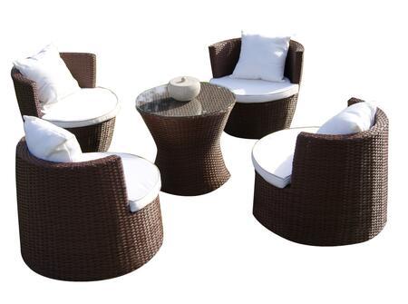 DM-GV-503 Art-Deck-Oh! Geo-Vase interlocking all weather wicker furniture set in