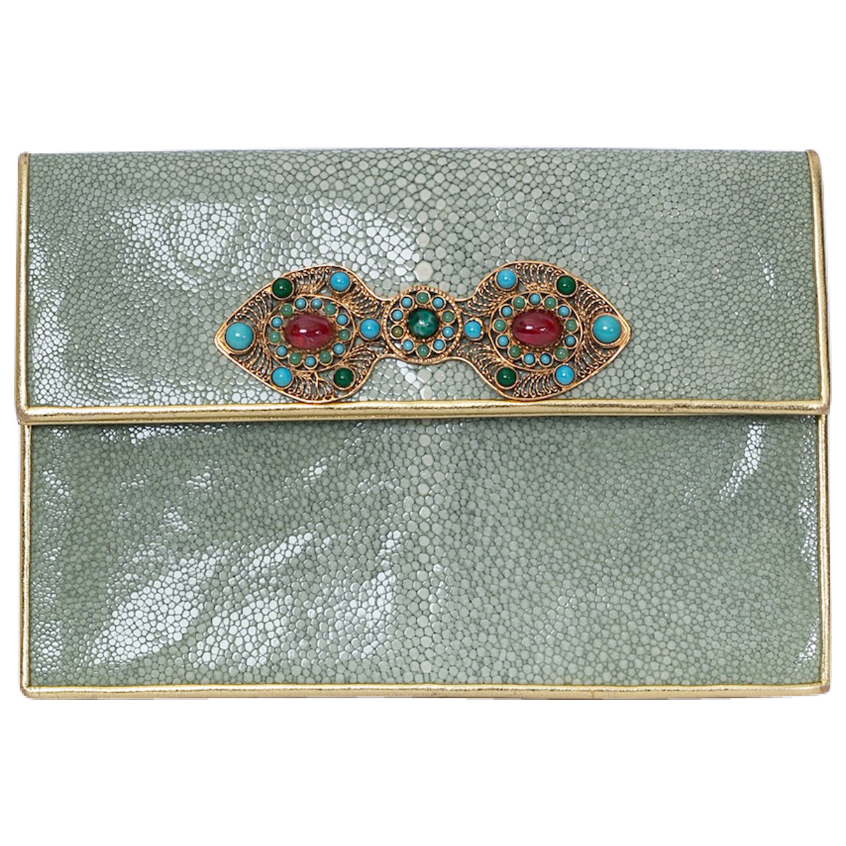 Non Signé / Unsigned N Green Stingray Clutch bag for Women N