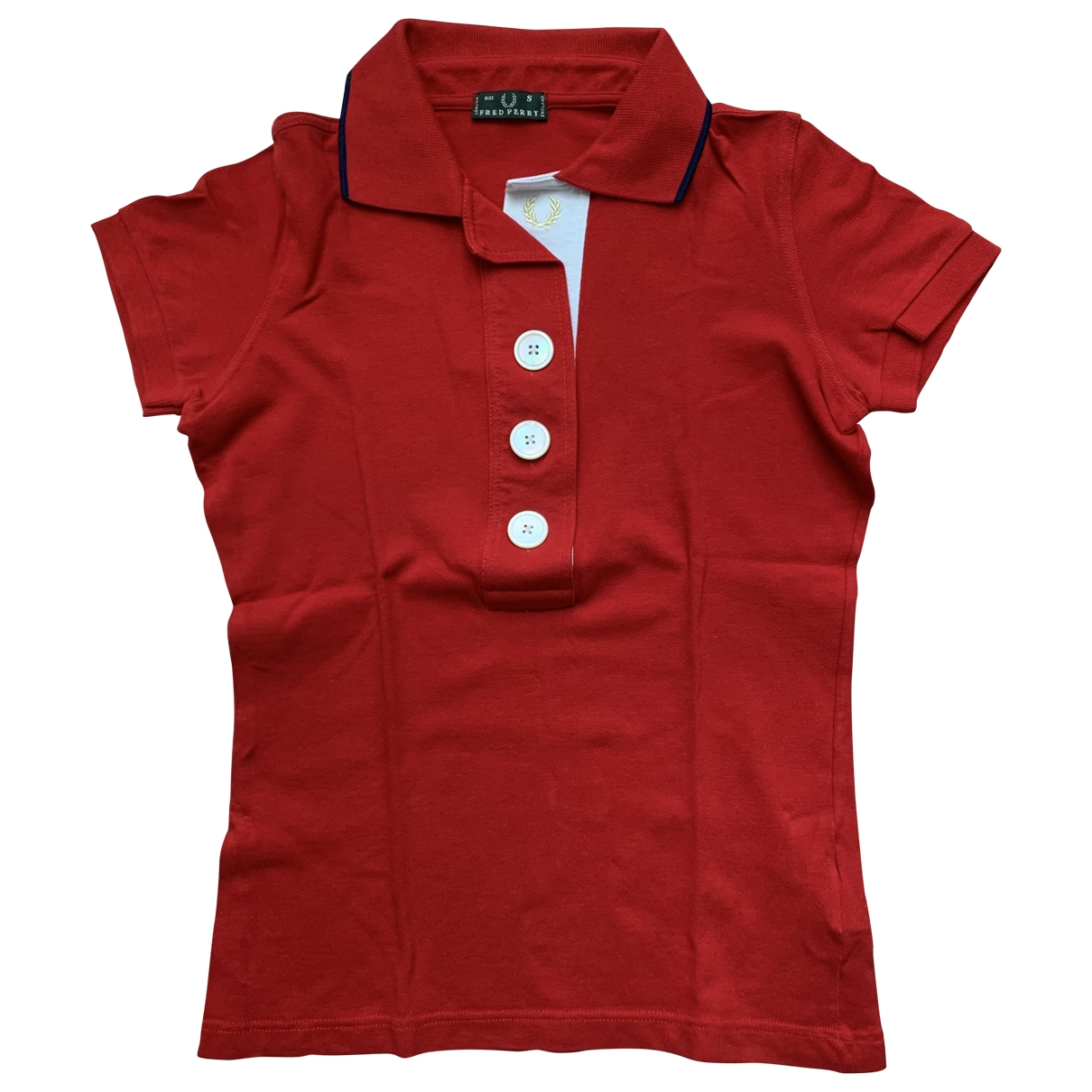 Fred Perry \N Red Cotton  top for Women S International