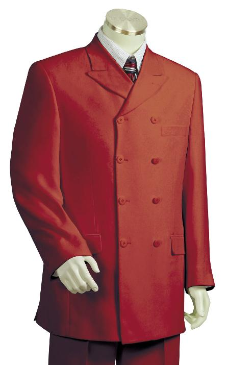 Deep Red Zoot Suit Mens