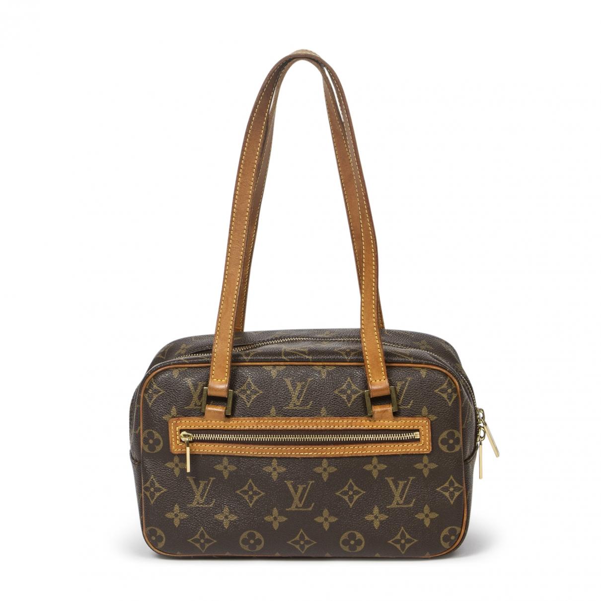 Louis Vuitton - Sac a main Cite  pour femme en cuir - marron