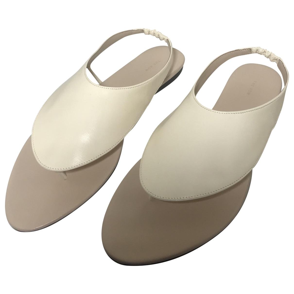 The Row - Sandales Ravello pour femme en cuir