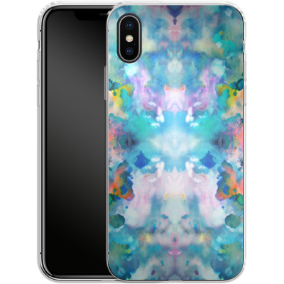Apple iPhone X Silikon Handyhuelle - Paint Splatter von caseable Designs