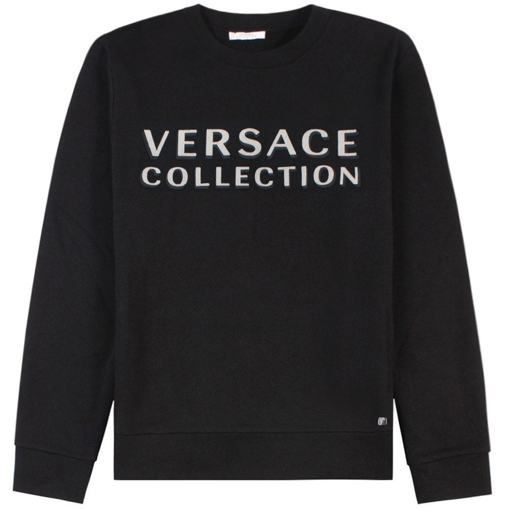 Versace Collection Logo Print Sweatshirt Colour: BLACK, Size: LARGE