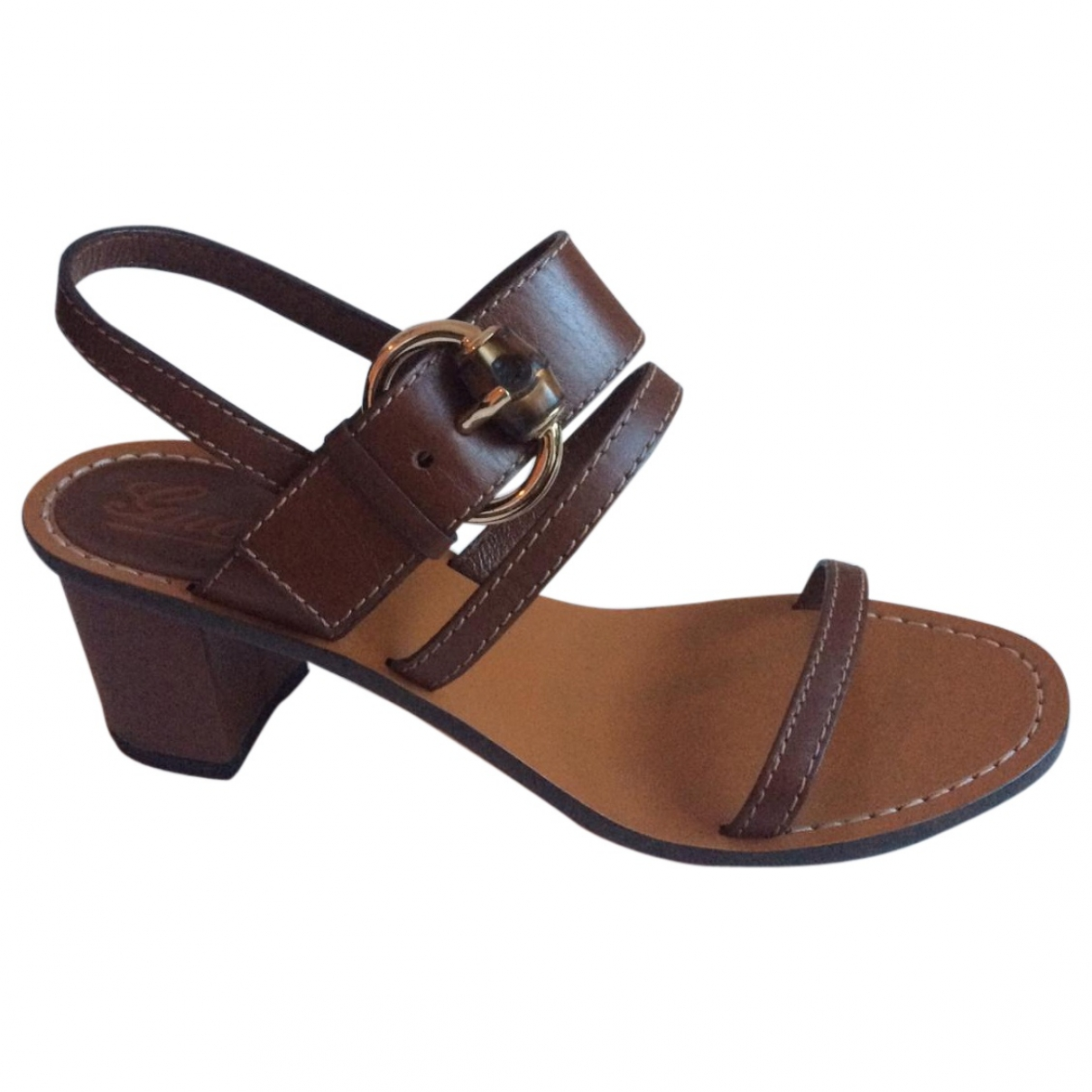 Gucci \N Brown Leather Sandals for Women 4 UK