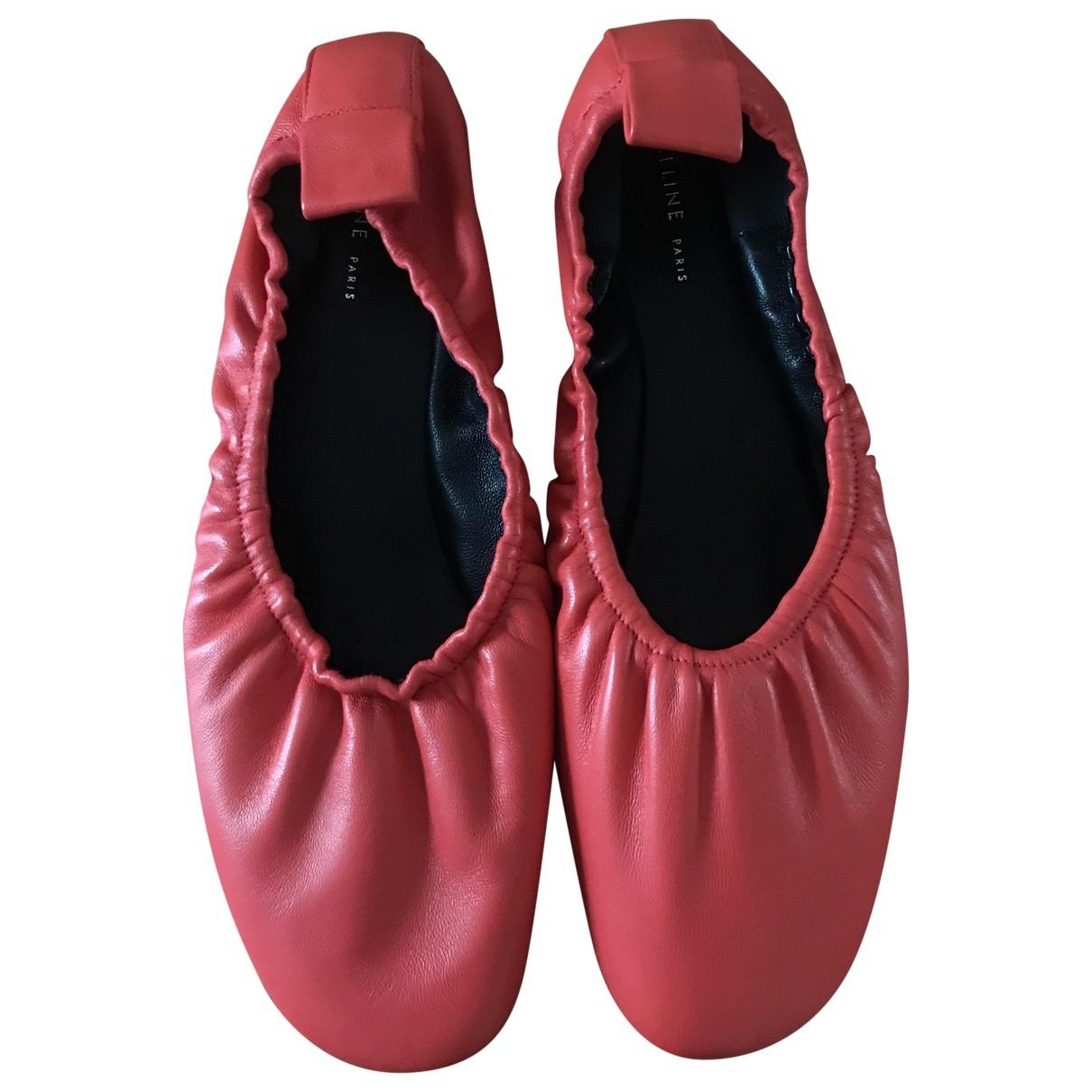 Celine - Ballerines Soft Ballerina pour femme en cuir - orange