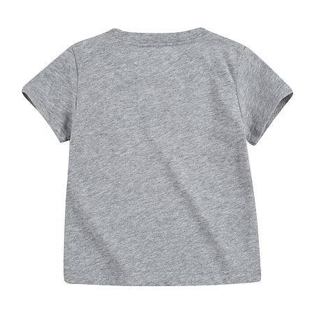 Levi's Baby Boys Crew Neck Short Sleeve Graphic T-Shirt, 12 Months , Gray