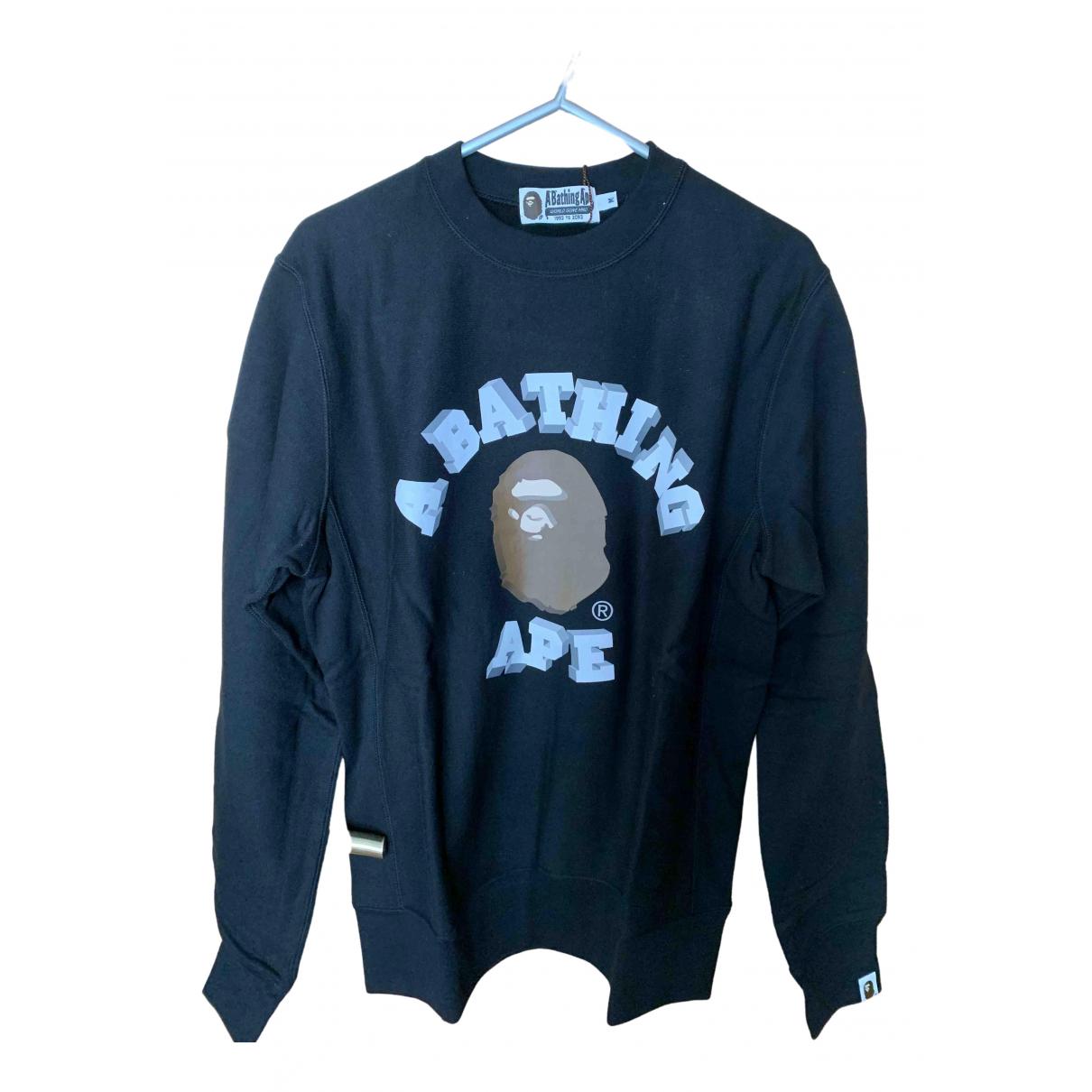 A Bathing Ape \N Pullover.Westen.Sweatshirts  in  Schwarz Baumwolle