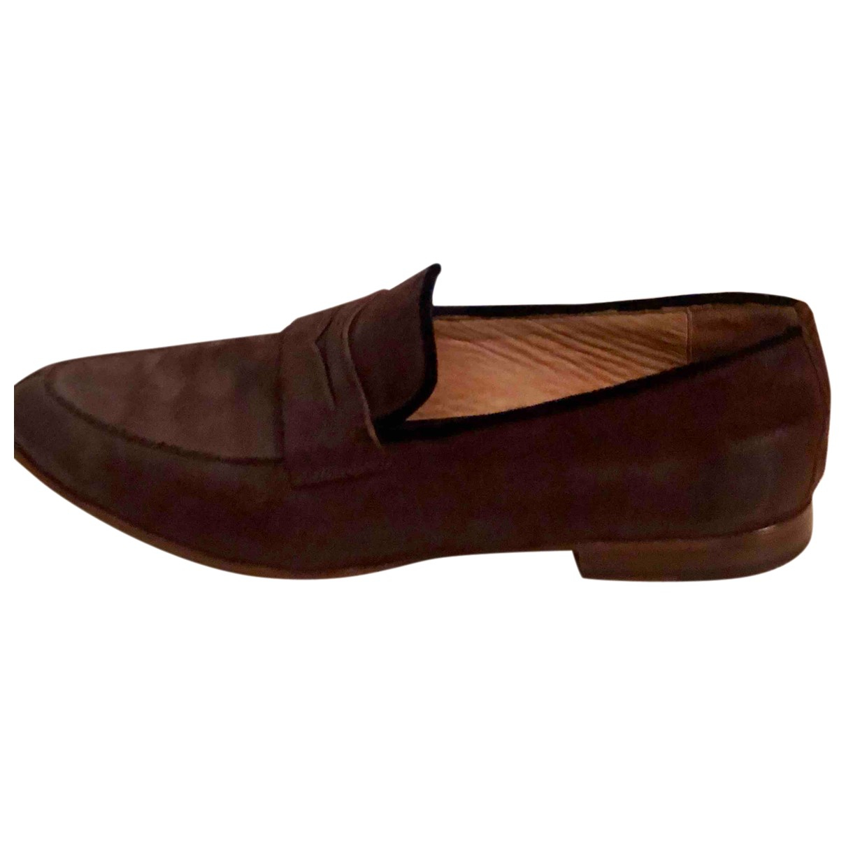 Arfango N Brown Leather Flats for Men 8.5 US