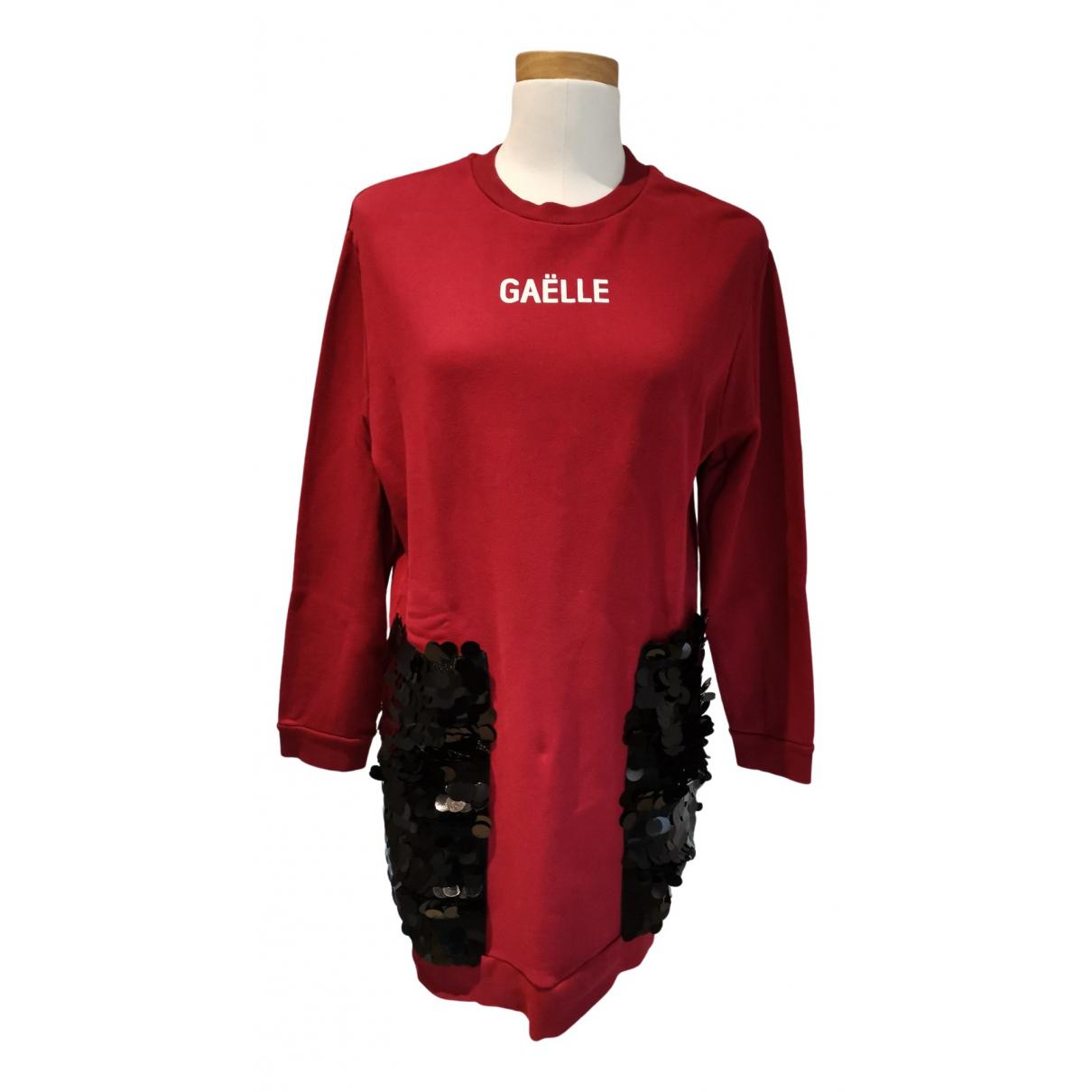 Gaelle Paris - Robe   pour femme en coton - bordeaux