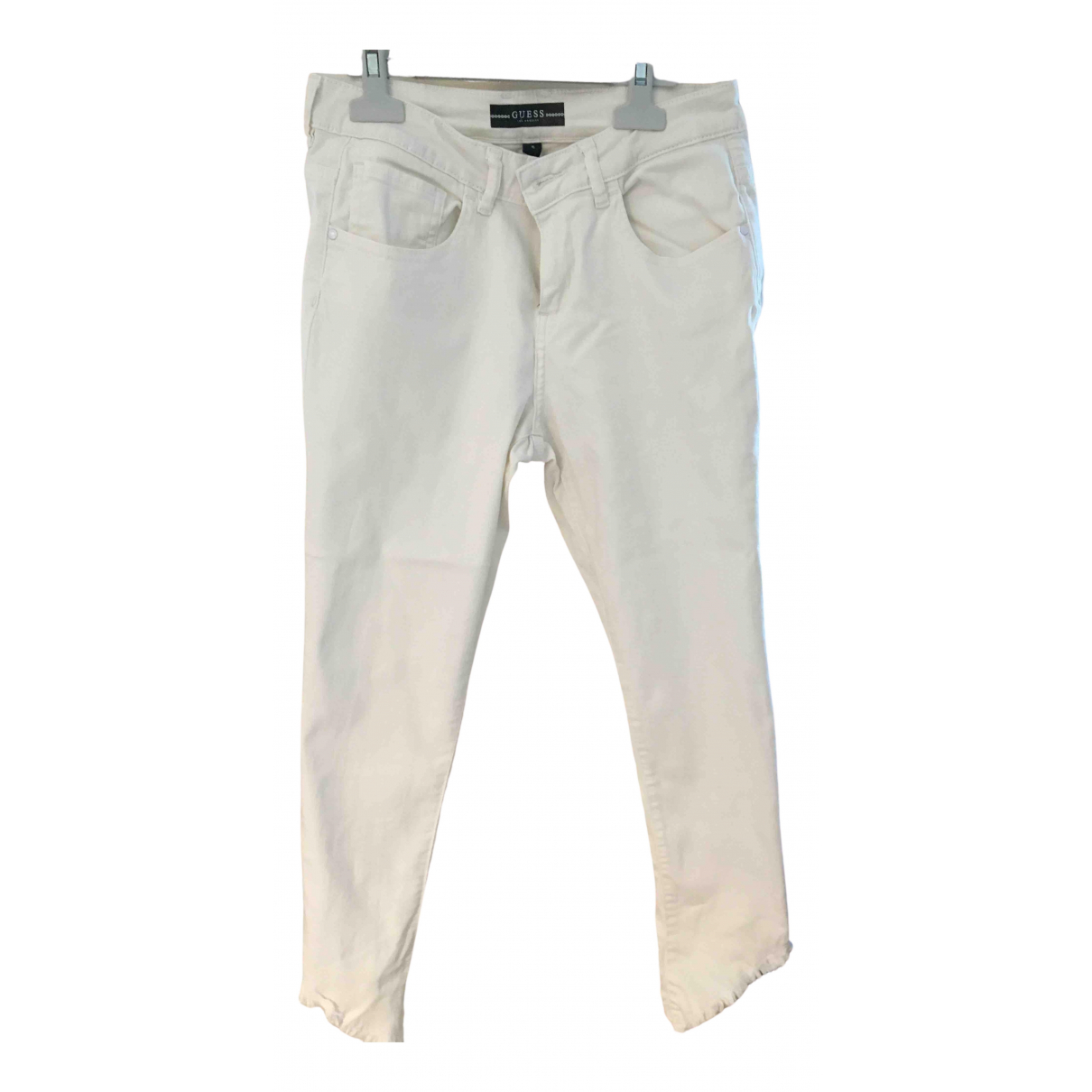 Guess \N White Cotton - elasthane Jeans for Women 36 FR