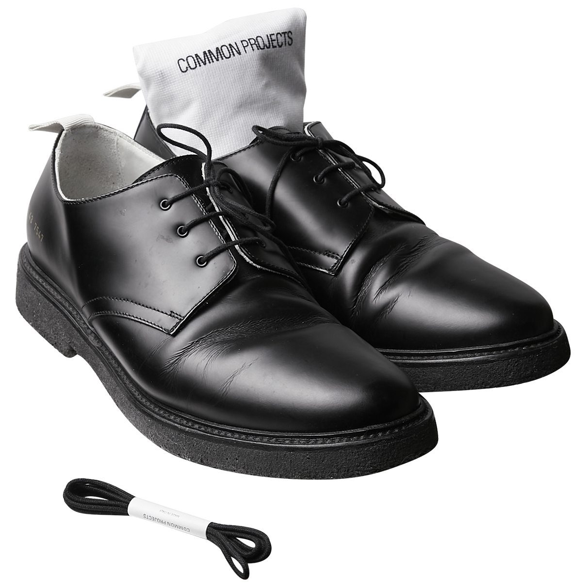 Common Projects - Derbies   pour homme en cuir - noir