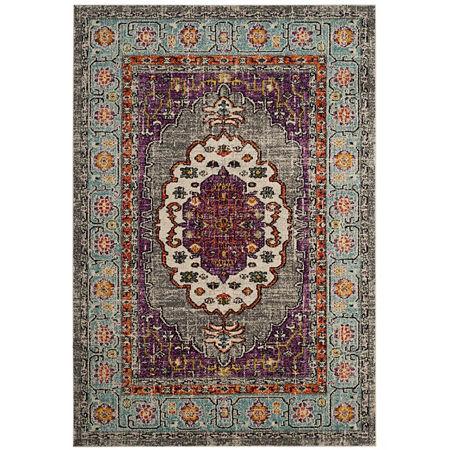 Safavieh Monaco Collection Zahara Oriental Round Area Rug, One Size , Multiple Colors