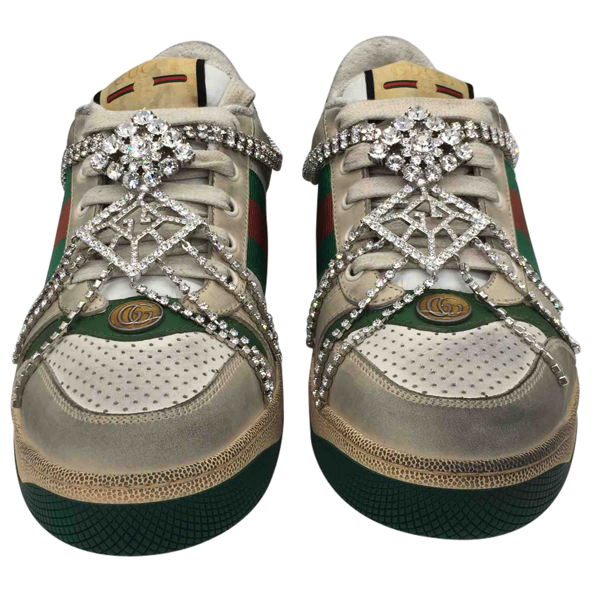 Gucci Screener Multicolour Leather Trainers for Women 41 EU
