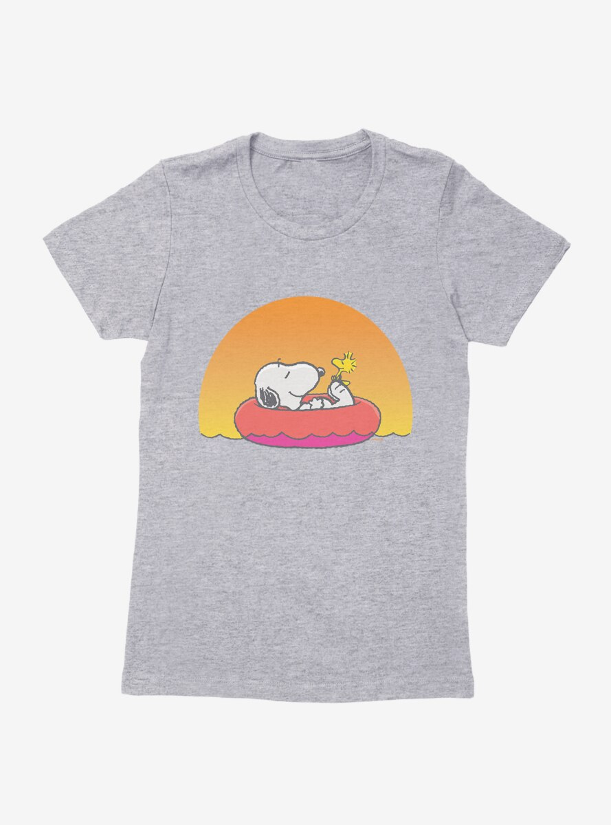 Peanuts Snoopy And Woodstock Relaxing Womens T-Shirt