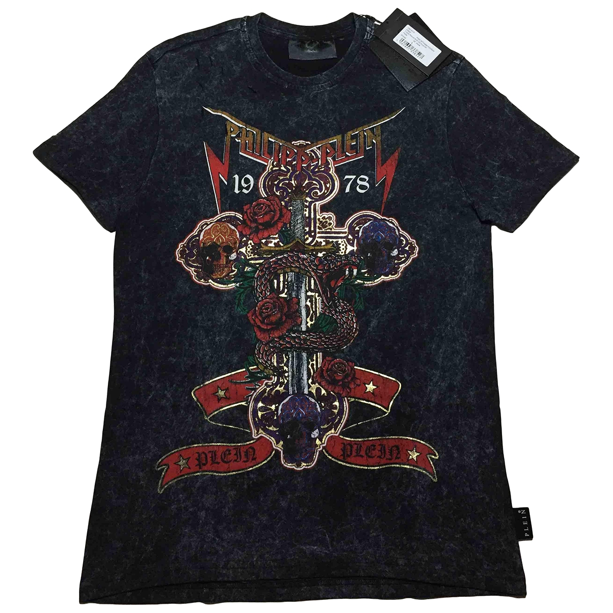 Philipp Plein \N Black Cotton T-shirts for Men L International