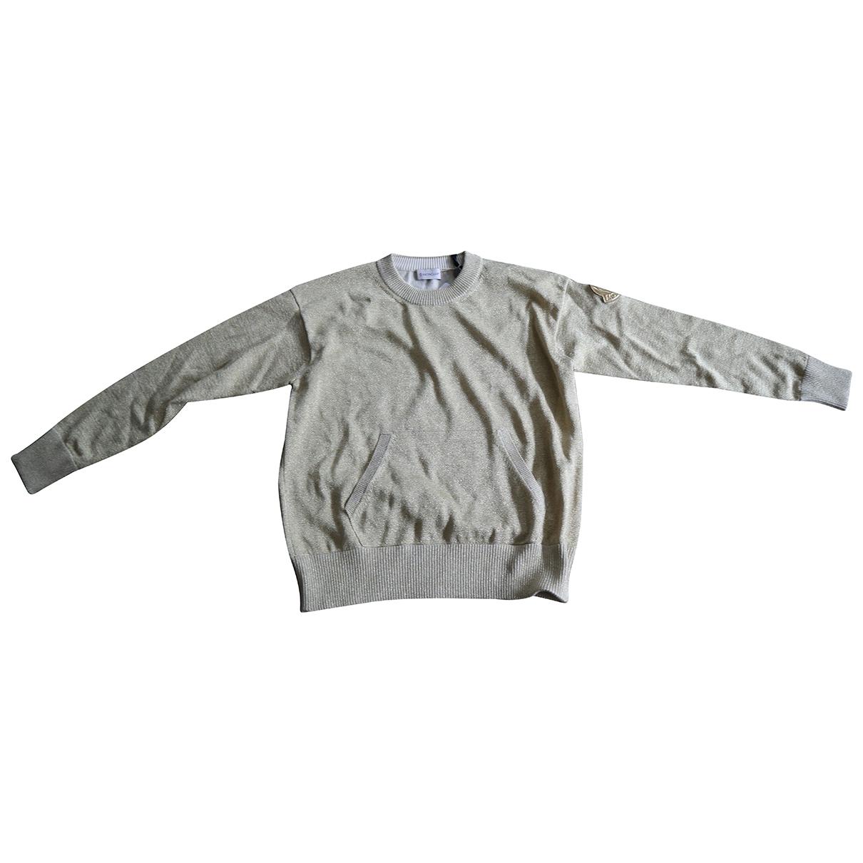 Moncler - Pull   pour femme en coton - dore