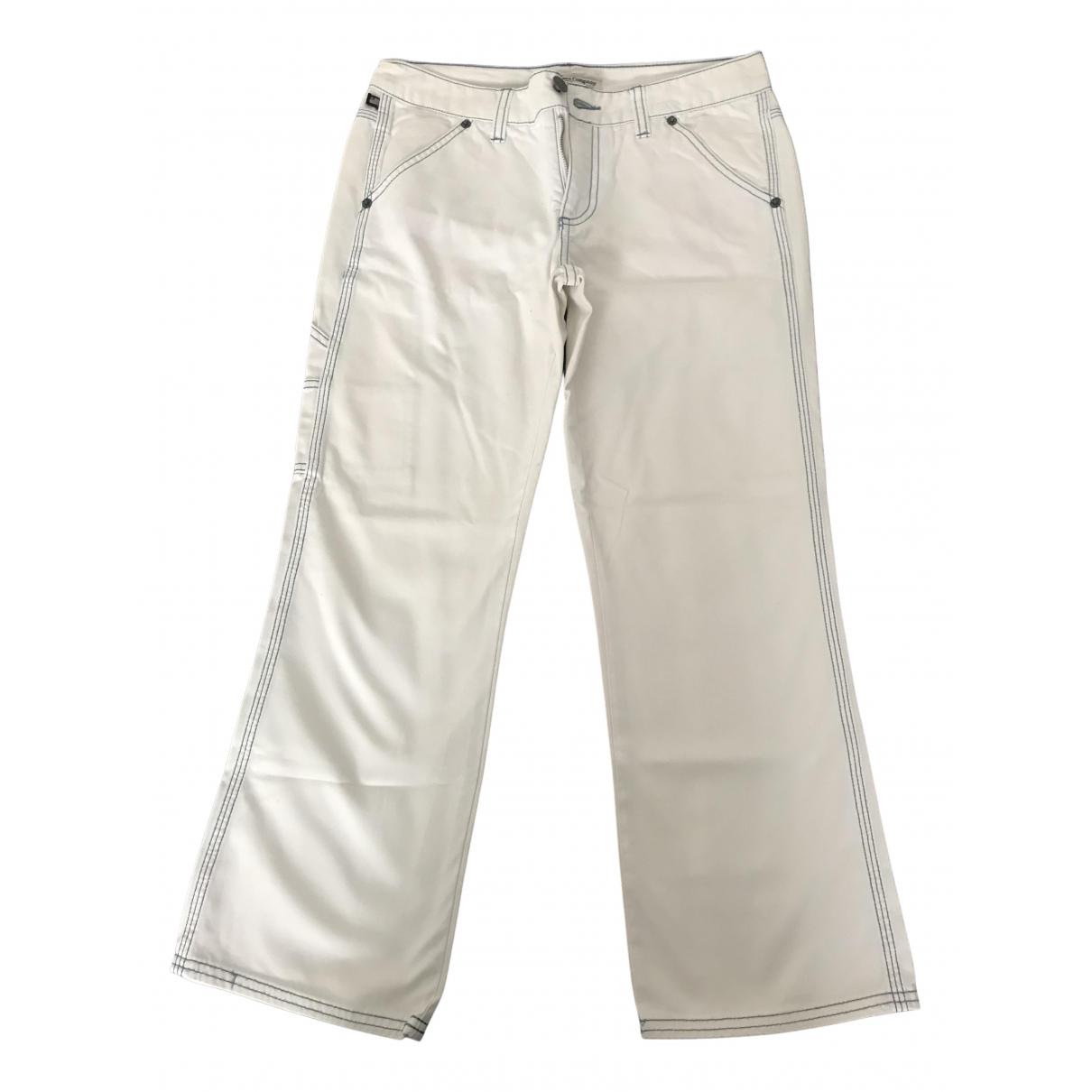 Ralph Lauren - Pantalon   pour femme en coton - blanc
